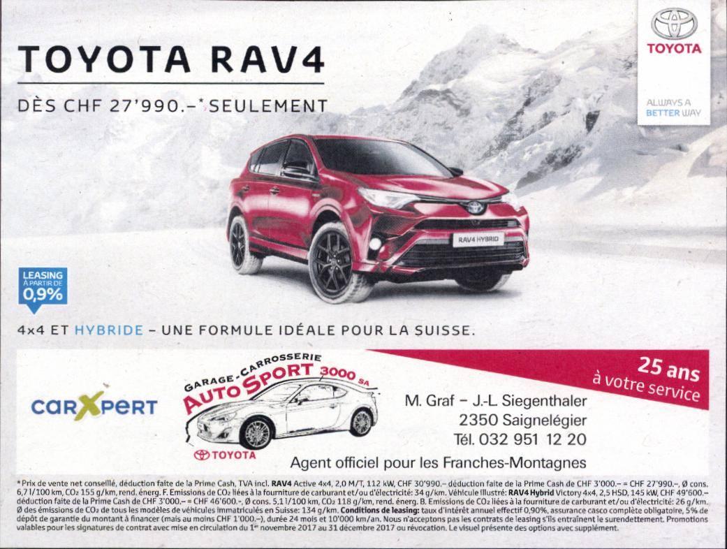 Garage auto sport 3000 toyota rav4 promotion for Garage autosport le portel